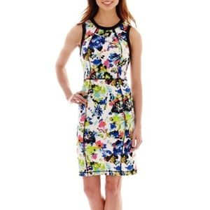 nicole by Nicole Miller Sleeveless Printed Dress L